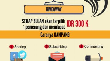 Giveaway: Rp 300 Ribu Dari Blog Setiap Bulan Untuk Anda